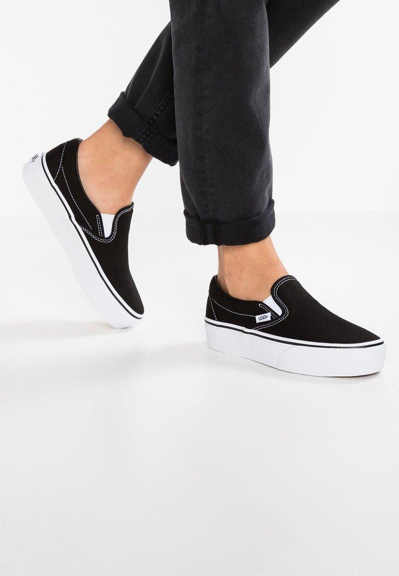 Vans - CLASSIC PLATFORM - Slip-ons - black