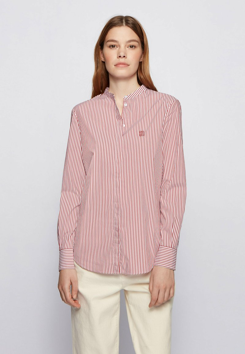 BOSS - BEFELIZE - Button-down blouse - red