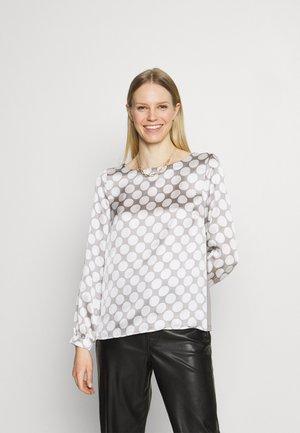 PRINTED BLOUSE - Long sleeved top - new grey