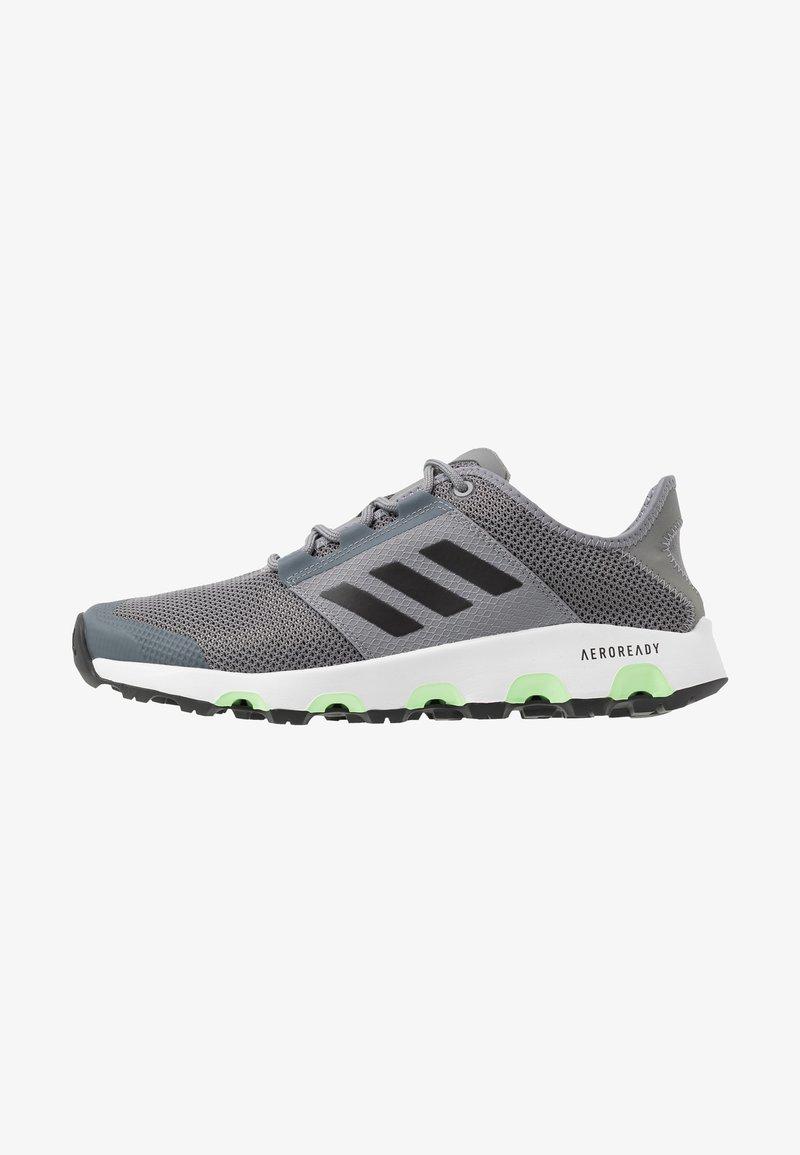 adidas Performance - TERREX VOYAGER - Obuwie do biegania Turystyka - grey three/core black/signal green