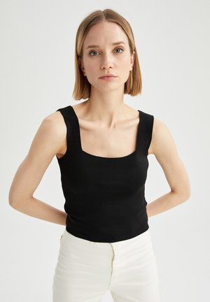 FITTED  - Top - black