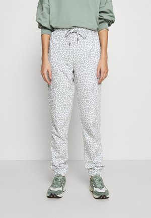 NMRAINY  - Tracksuit bottoms - bright white/slate grey