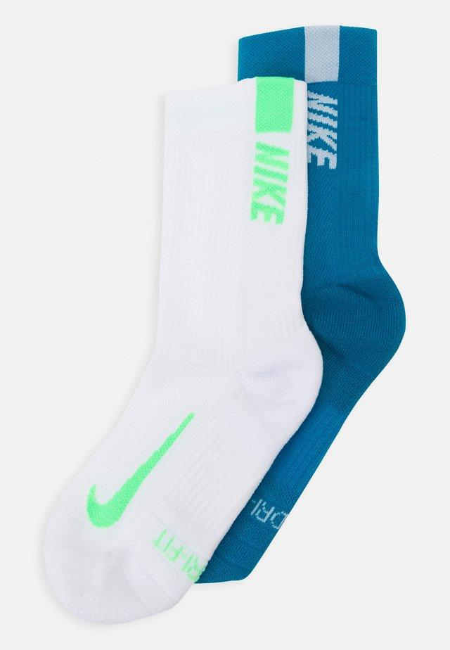 MULTIPLIER MAX CREW 2 PACK - Sports socks - blue/white