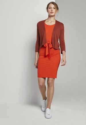 Shift dress - strong flame orange