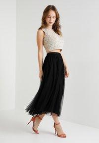 Lace & Beads Petite - VAL SKIRT - Jupe longue - black - 1