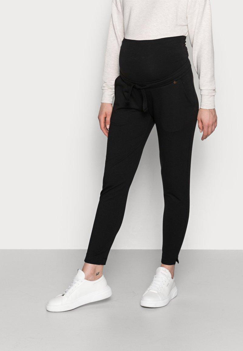 LOVE2WAIT - PANTS RELAX - Spodnie materiałowe - black