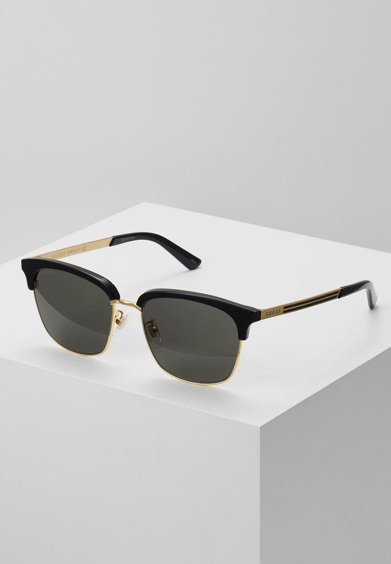 Gucci - Sunglasses - black/gold-coloured/grey