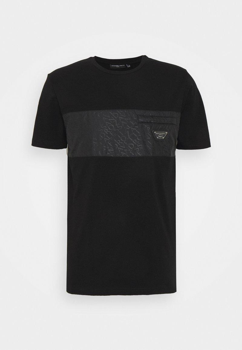 Alessandro Zavetti - TECETTI TEE - T-shirt print - jet black