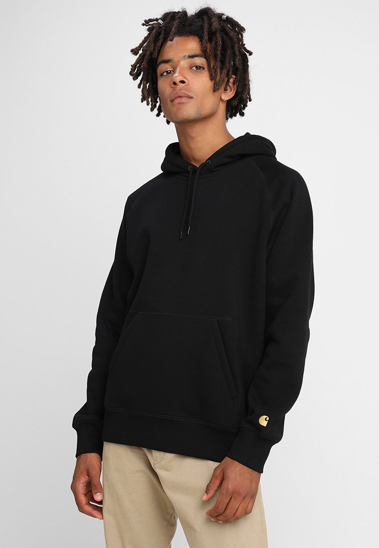 Carhartt WIP - HOODED CHASE  - Bluza z kapturem - black/gold