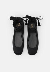TWINSET - RASO GROS GRAIN - Ankle strap ballet pumps - nero - 4