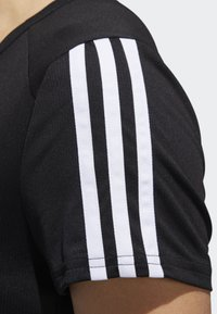 adidas Performance - RUNNING 3-STRIPES T-SHIRT - T-Shirt print - black - 6