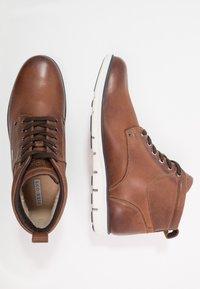 Pier One - Lace-up ankle boots - cognac - 1