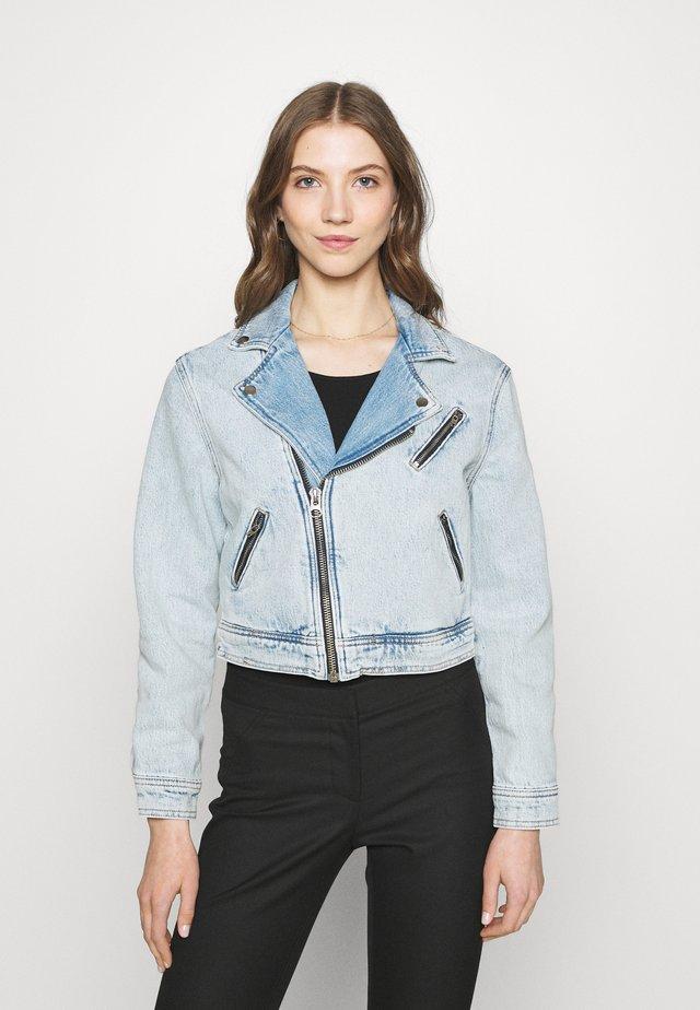 ONLSTEFFIE BIKER JACKET - Giacca di jeans - light medium blue