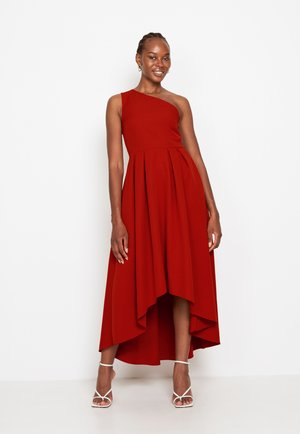 FRILL FIT FLARE - Cocktail dress / Party dress - ochre