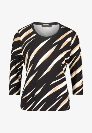 Long sleeved top - schwarz/beige