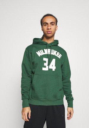 NBA MILWAUKEE BUCKS GIANNIS ANTETOKOUNMPO NAME & NUMBER HOODIE - Club wear - fir/white