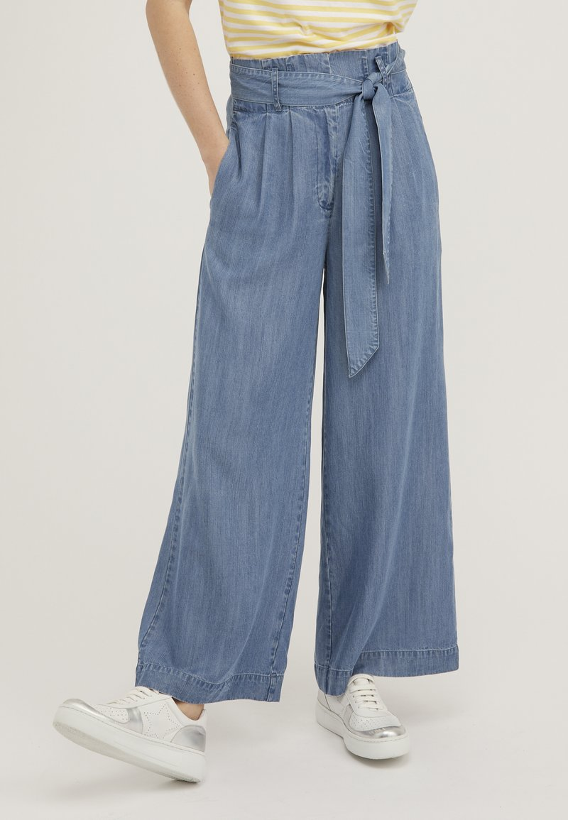 Oliver Bonas - CHAMBRAY  - Trousers - blue