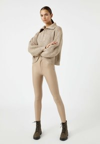PULL&BEAR - Leggings - Trousers - beige - 1