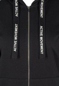 Active by Zizzi - Zip-up sweatshirt - black - 4