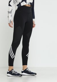 adidas Performance - SPORT HIGH WAIST LEGGINGS - Legging - black/white - 0