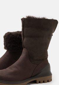 ECCO - TREDTRAY - Winter boots - dark brown - 5