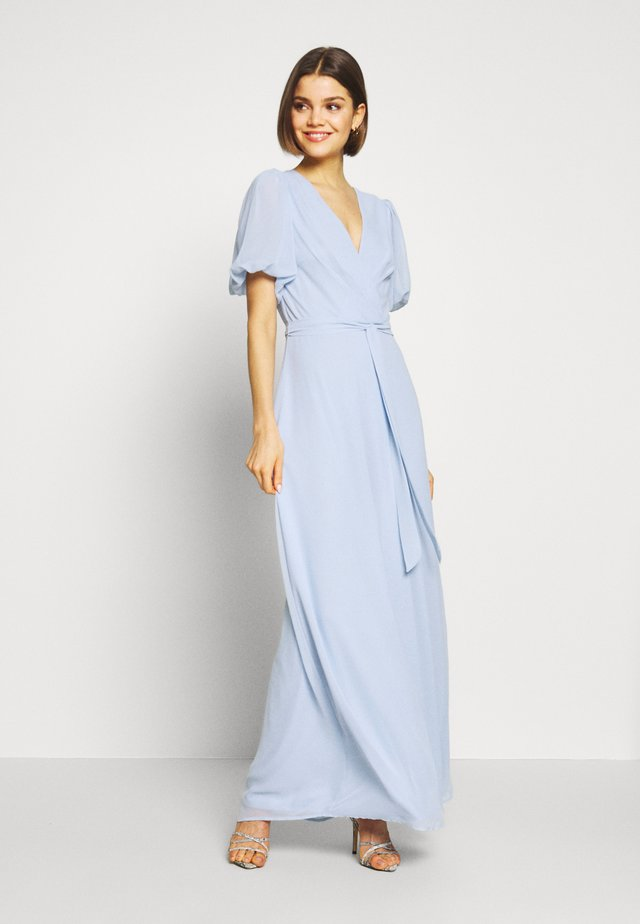 PUFF SLEEVE GOWN - Robe de cocktail - blue