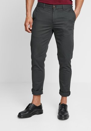 MOTT CLASSIC SLIM FIT - Chinosy - charcoal