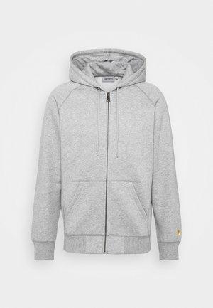 HOODED CHASE - Sweat à capuche zippé - grey
