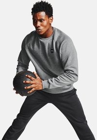 Under Armour - RIVAL  - Sweater - pitch gray light heather - 0