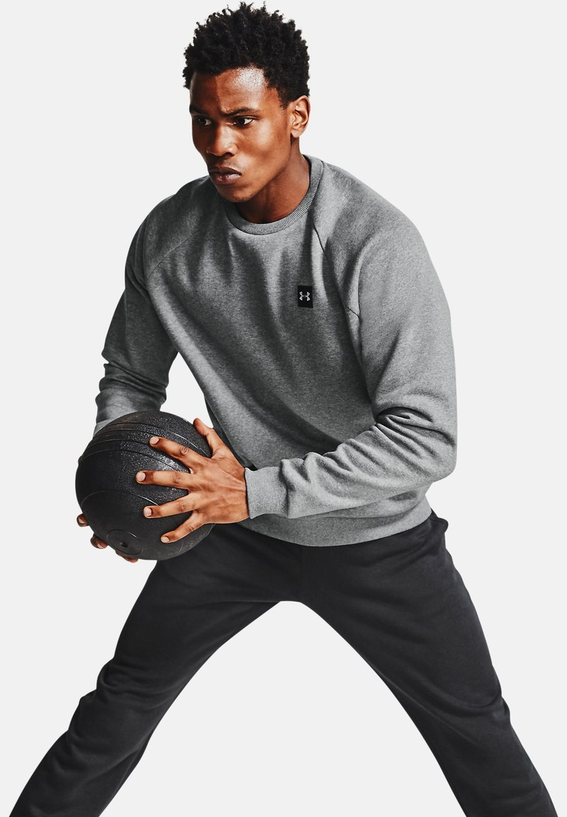 Under Armour - RIVAL  - Sweater - pitch gray light heather