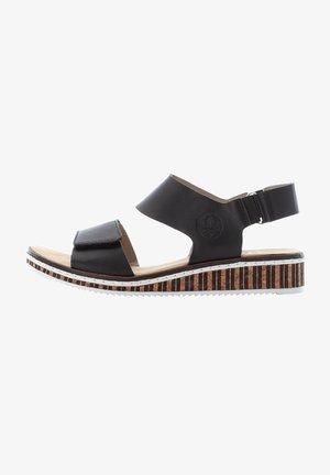 V3680 - Wedge sandals - black