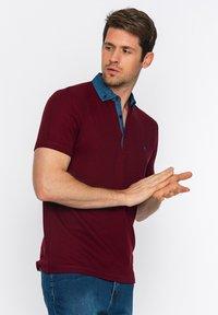 Basics and More - Polo shirt - bordeaux - 4