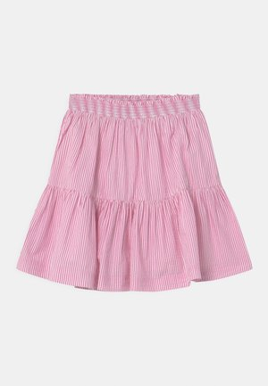 A-line skirt - rose/white
