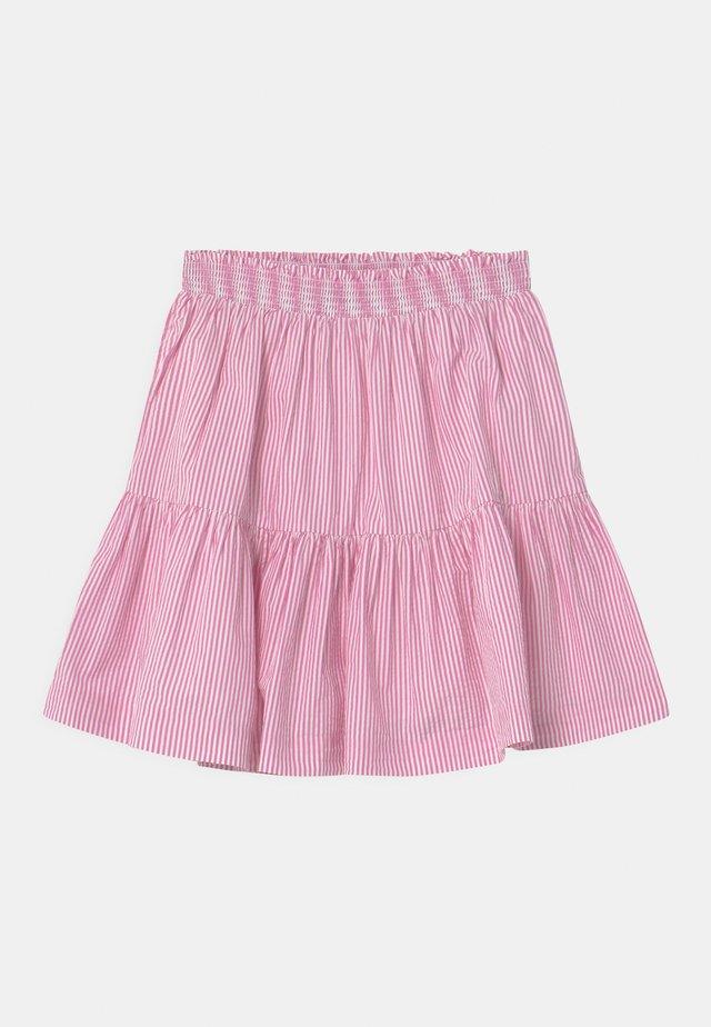 A-line skirt - rose/white