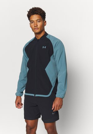 RIPSTOP WIND BOMBER - Veste de survêtement - black/lichen blue/black