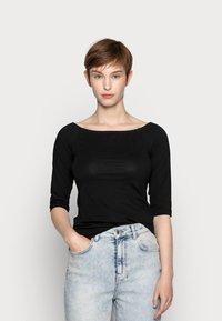Even&Odd - 2 PACK - Langærmede T-shirts - white/black - 1