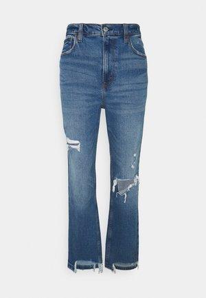 KNEE HOLE - Jeans straight leg - medium/dark destroy