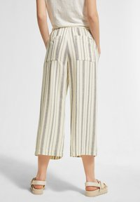 comma casual identity - Trousers - white woven stripes - 2