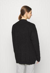 Even&Odd - BASIC- OPEN SPONGY CARDIGAN - Cardigan - black - 2