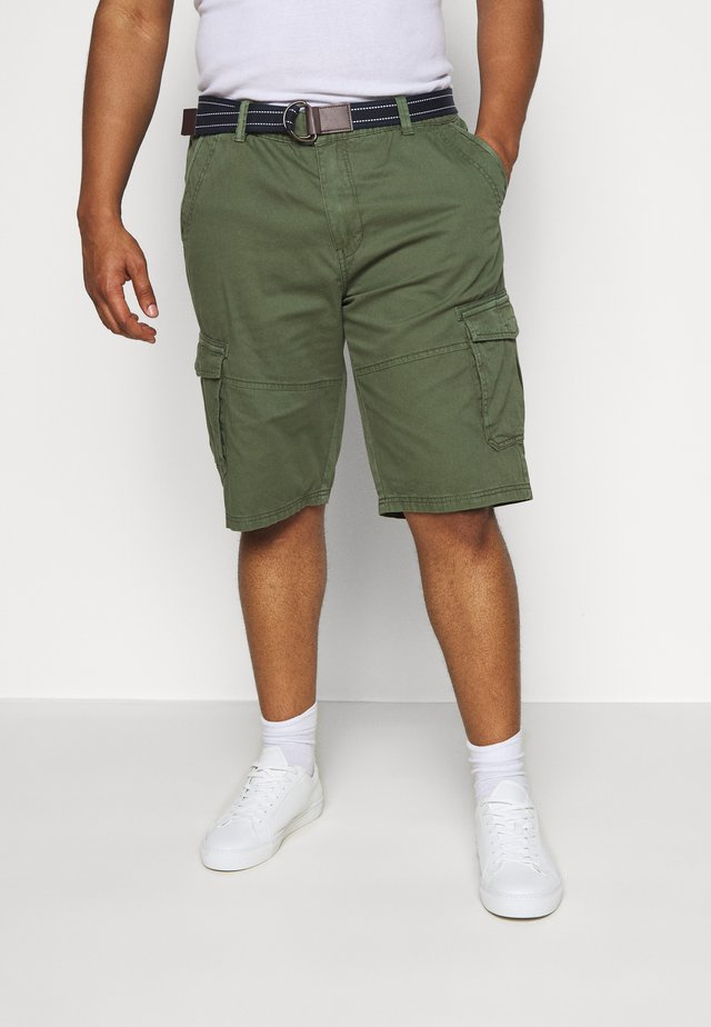 CARGO KNICKERS WITH BELT - Shorts - oliv