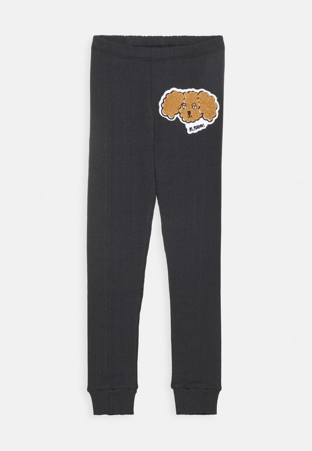 FLUFFY DOG PATCH UNISEX - Leggings - Trousers - black
