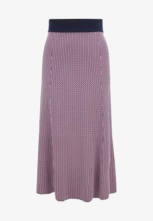 A-line skirt - dark blue/pink