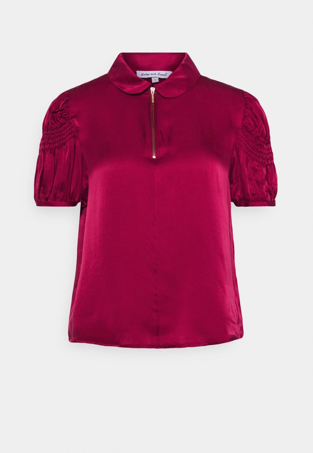 AMELIA BLOUSE - Camicetta - cranberry