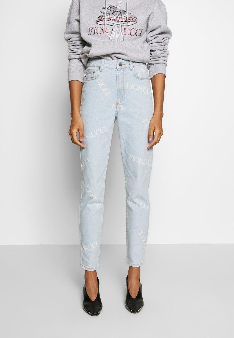 Fiorucci - SCATTERED LOGO TARA LIGHT VINTAGE - Jeans a sigaretta - blue denim