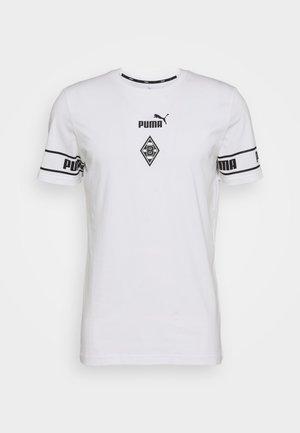 BORUSSIA MÖNCHENGLADBACH TEE - Klubbkläder - white/black