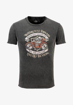 MT MOTOCYCLE BRIGADE ROUND - Print T-shirt - schwarz 15