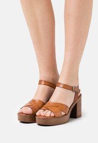 Musse & Cloud - ROSAURA - Platform sandals - brown - 0