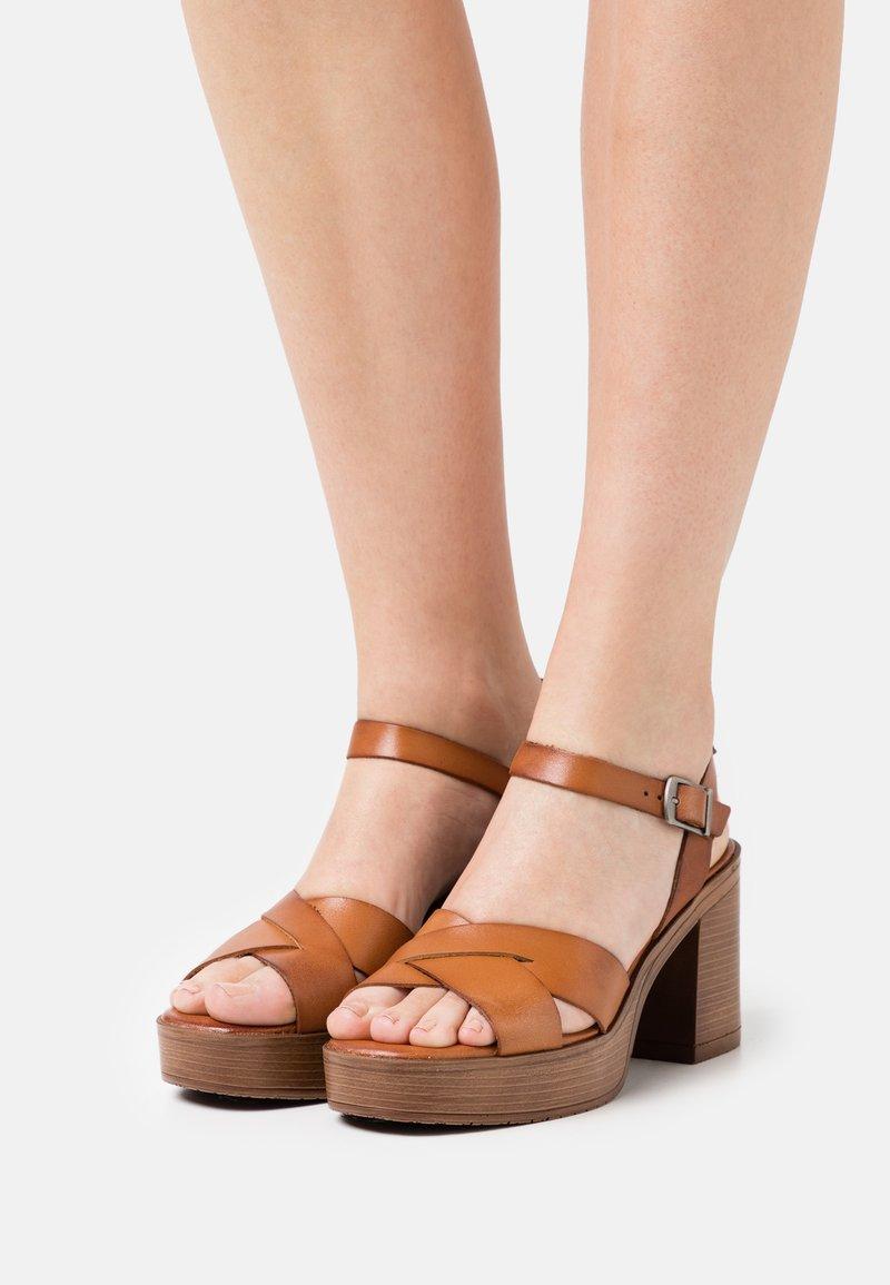 Musse & Cloud - ROSAURA - Platform sandals - brown