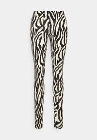 Saint Tropez - DAVINA - Leggings - Trousers - black grand zebra - 0