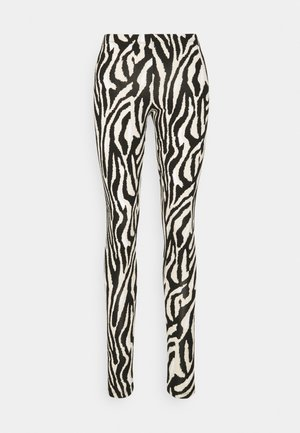 DAVINA - Leggings - Trousers - black grand zebra